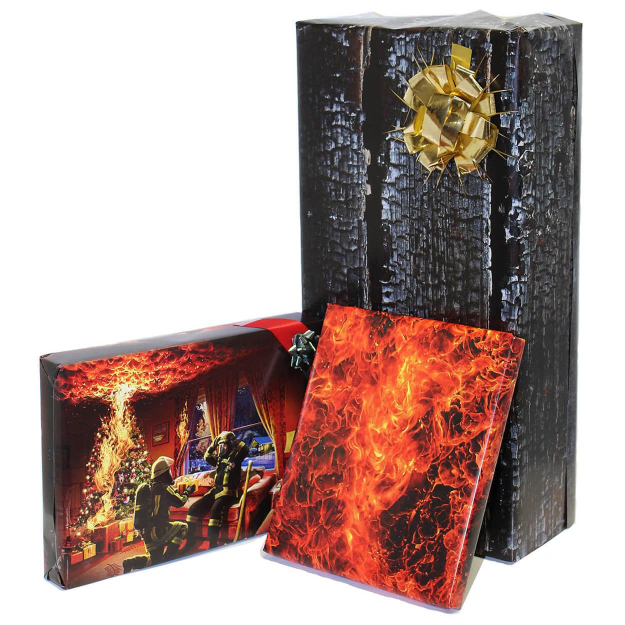 Feuerwehr Geschenkpapier 70 x 100 cm