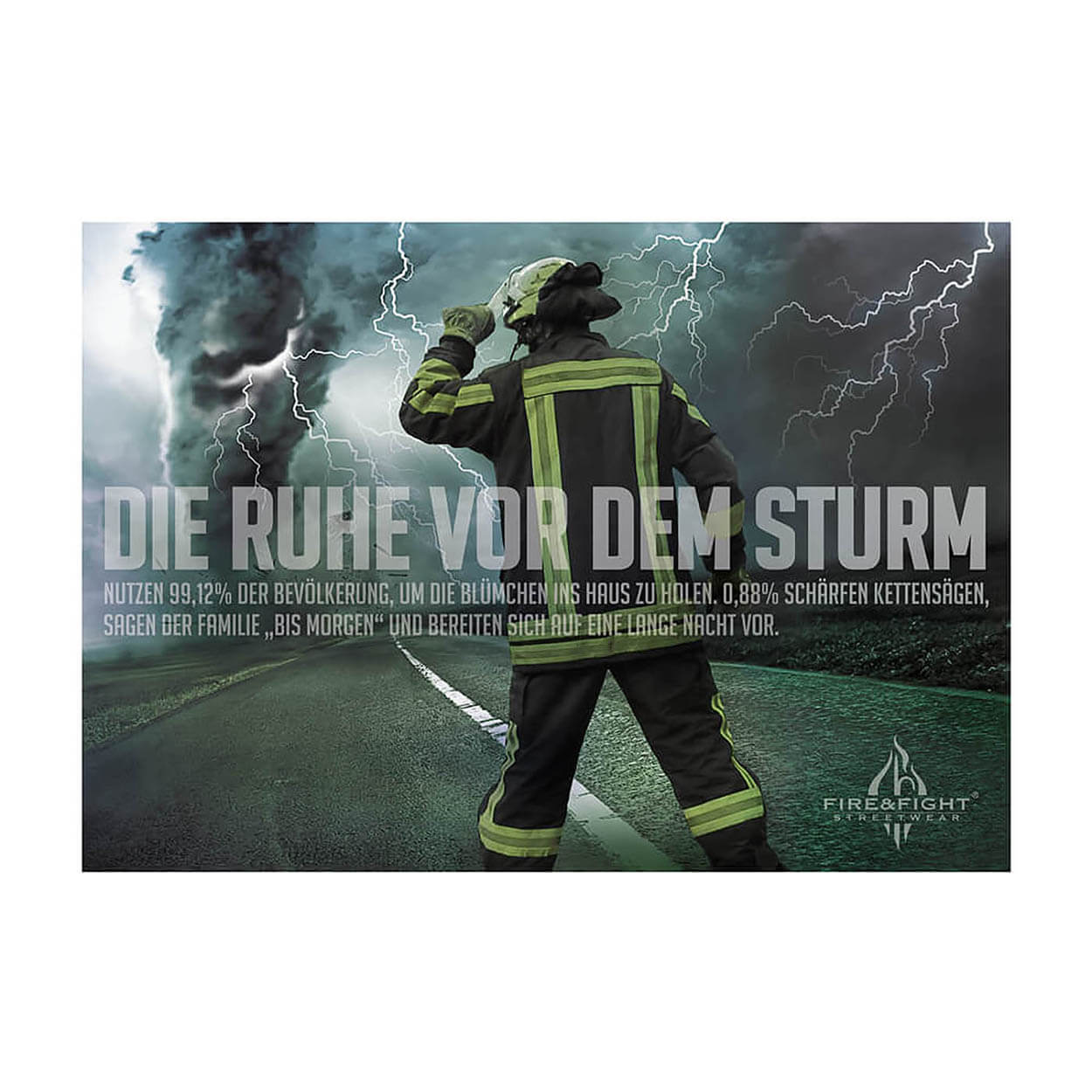 Feuerwehrposter Ruhe vor dem Sturm