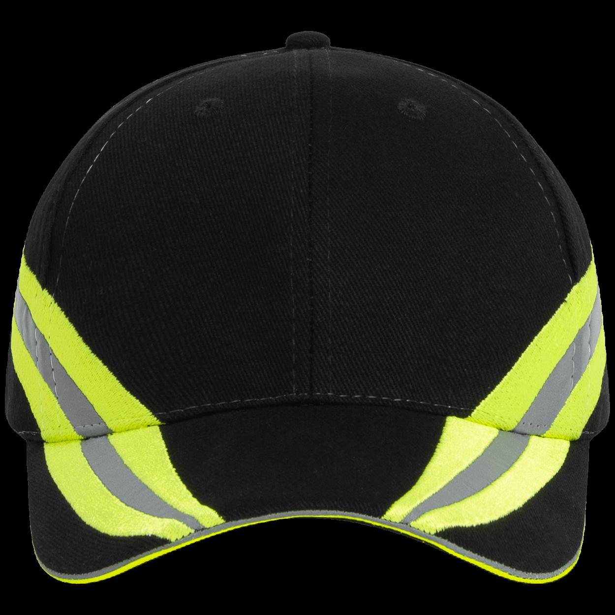 Feuerwehr Basecap Reflexstreifen Design - Farbe schwarz