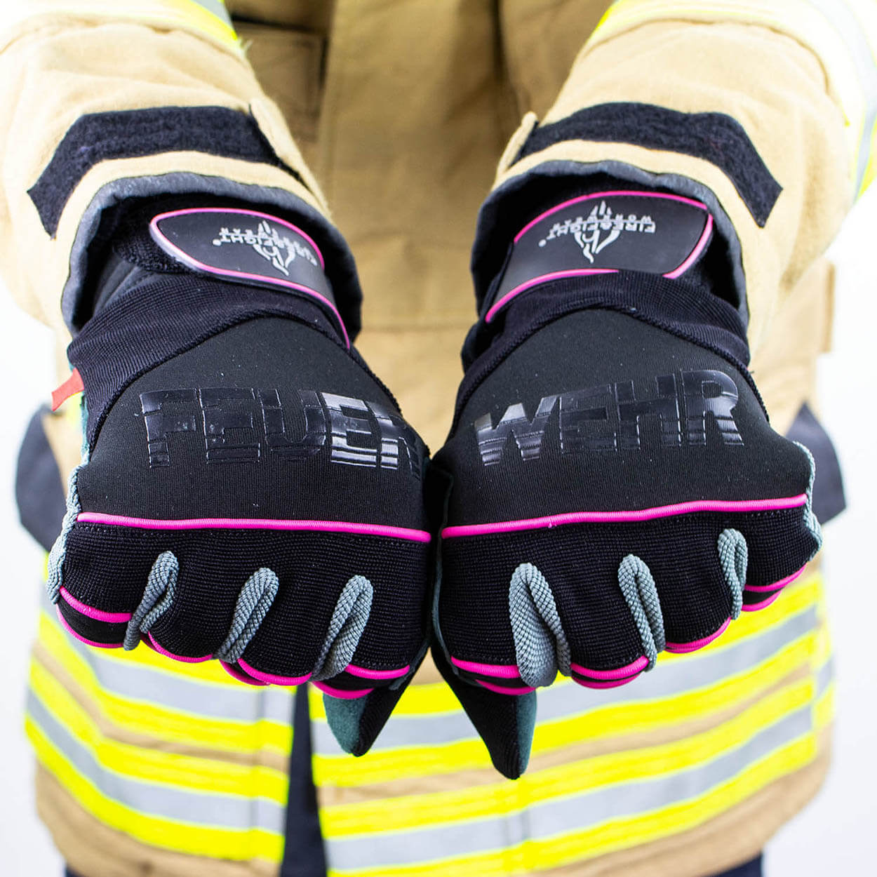 TH Handschuh EXTRICATION Feuerwehrfrau pink