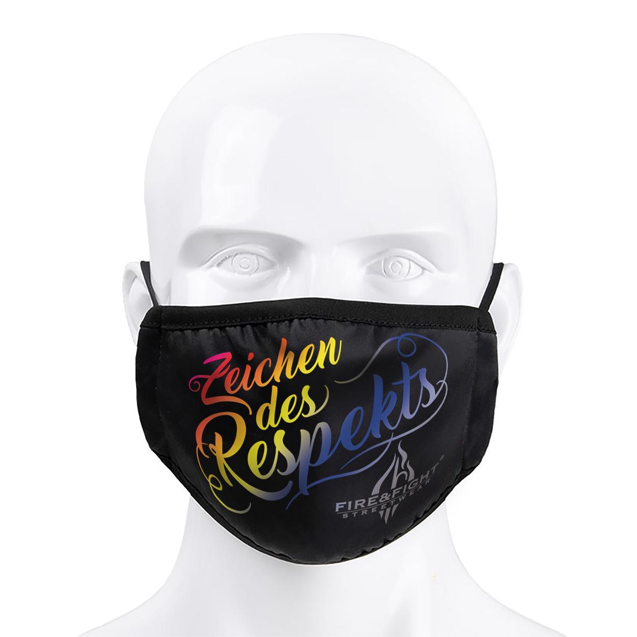 Alltagsmaske Zeichen des Respekts