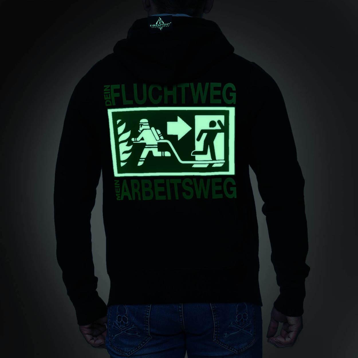 Dein Fluchtweg Design - Kapuzenjacke Männer schwarz
