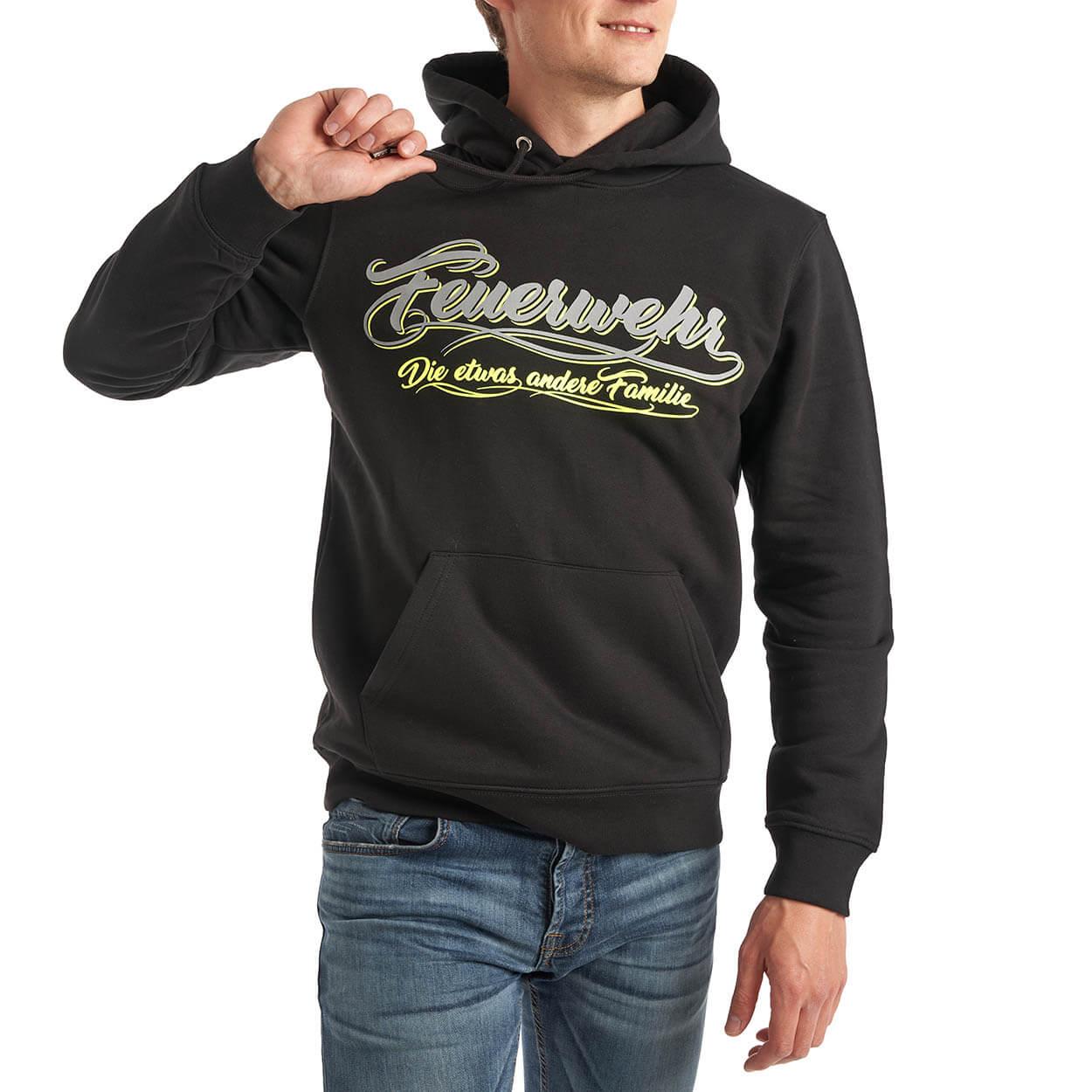 Feuerwehr, die etwas andere Familie - Männer Kapuzensweater schwarz