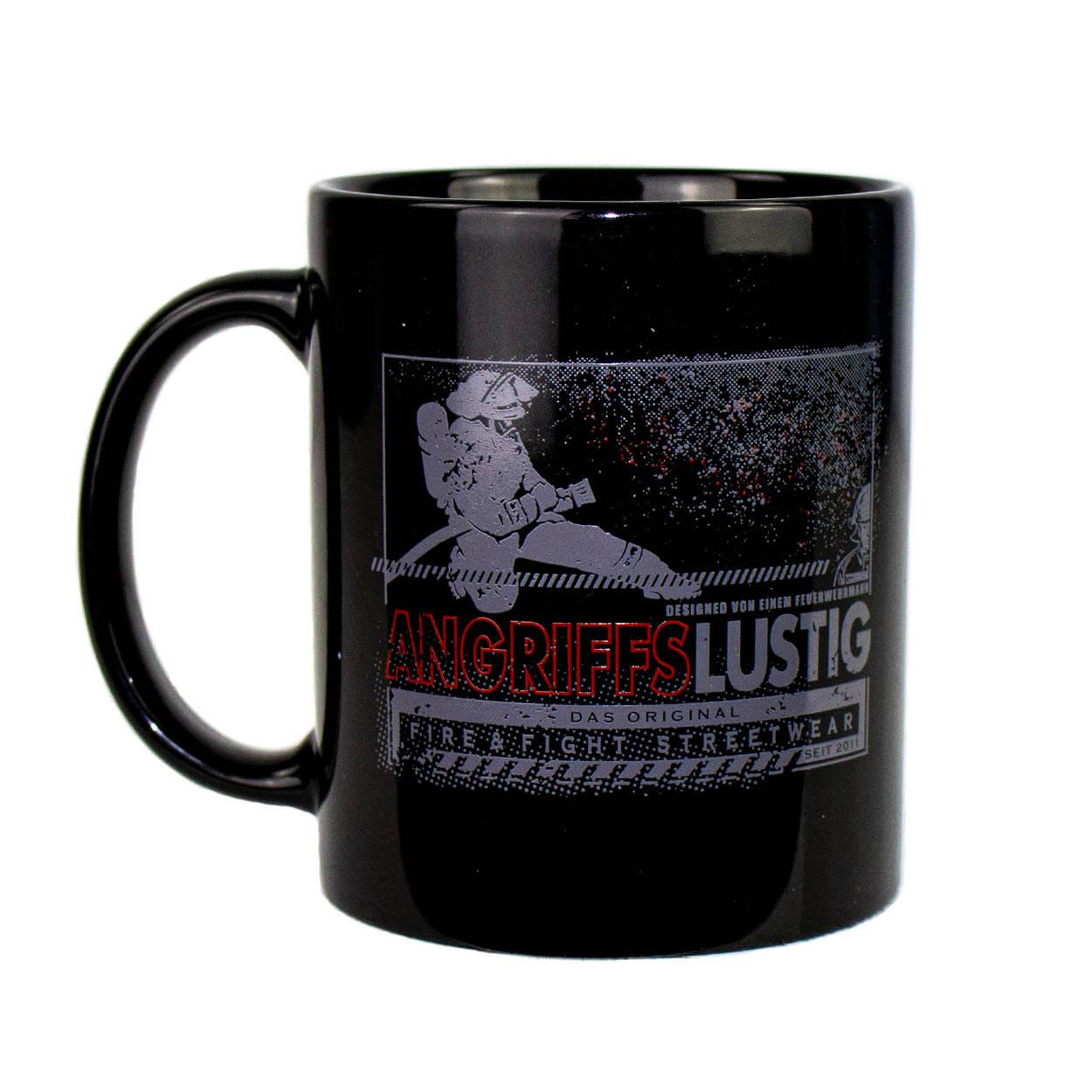 Der Original Angriffslustig® Kaffeebecher