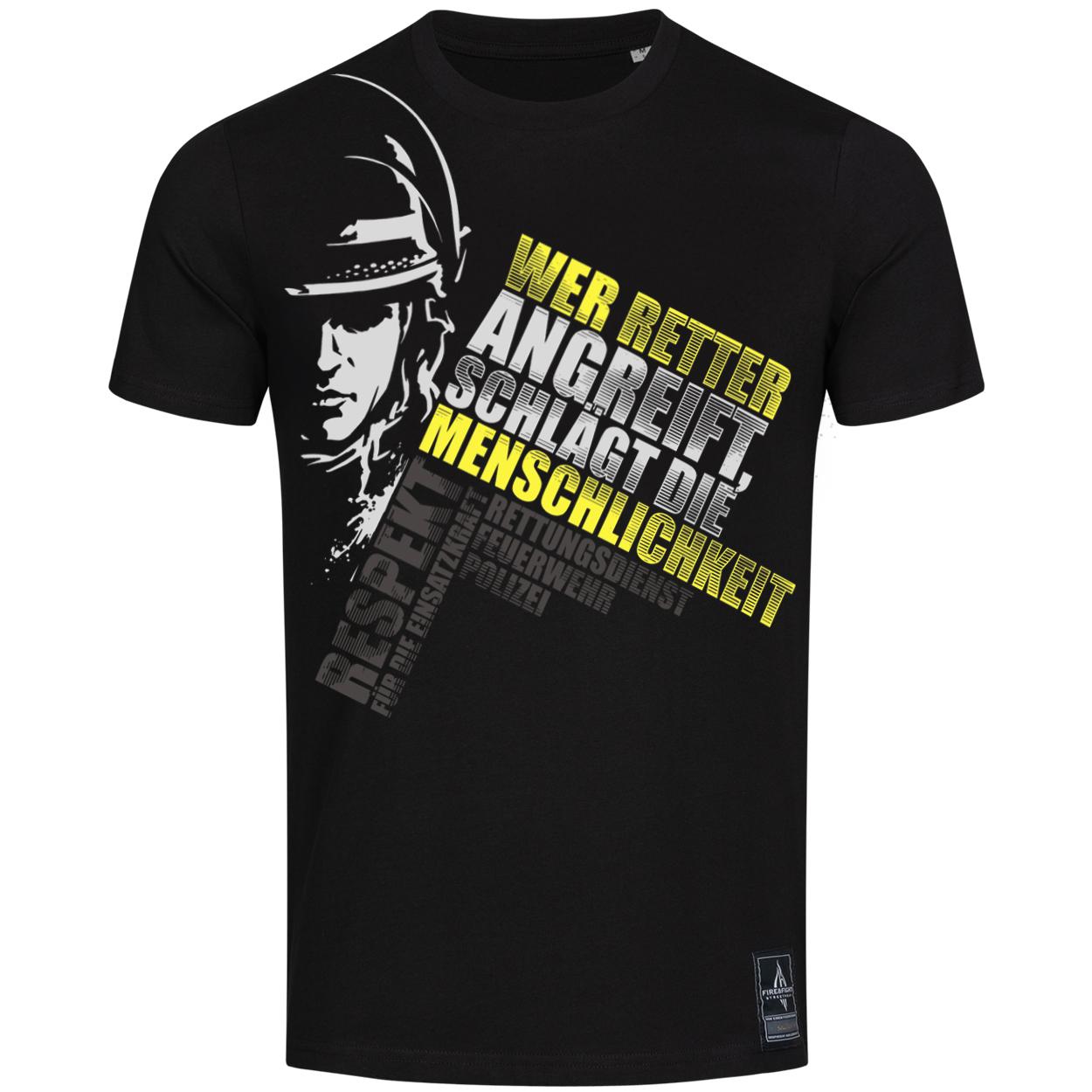 Wer Retter angreift schlägt die Menschlichkeit - Männer T-Shirt