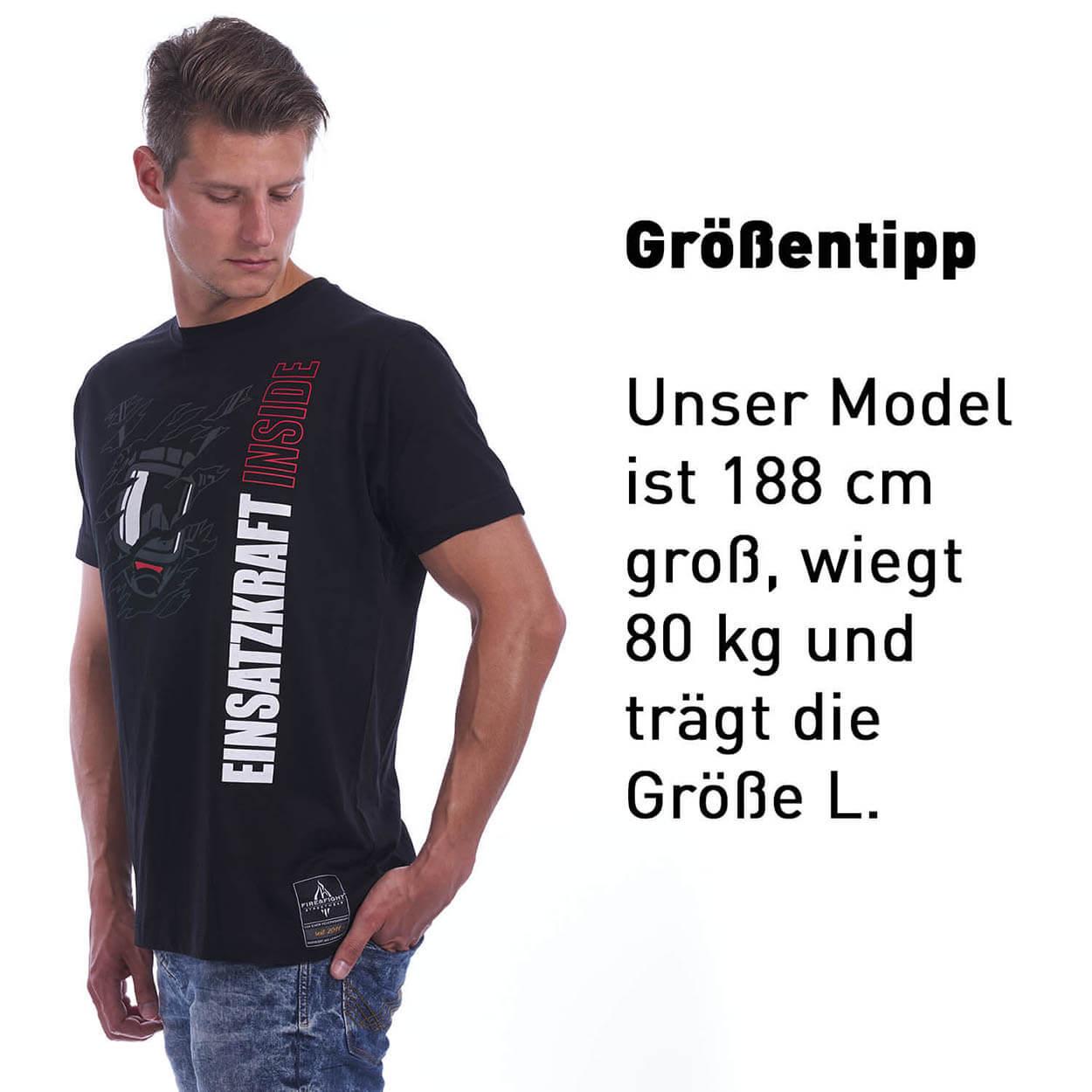 Einsatzkraft® INSIDE - Feuerwehr Männer T-Shirt schwarz