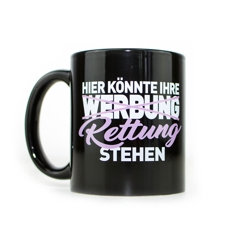 IHRE RETTUNG Kaffeebecher lila pink