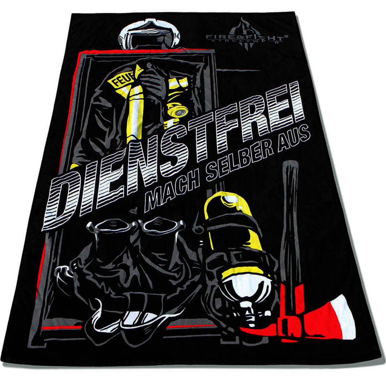 Mach mal Dienstfrei - Feuerwehr Strandtuch