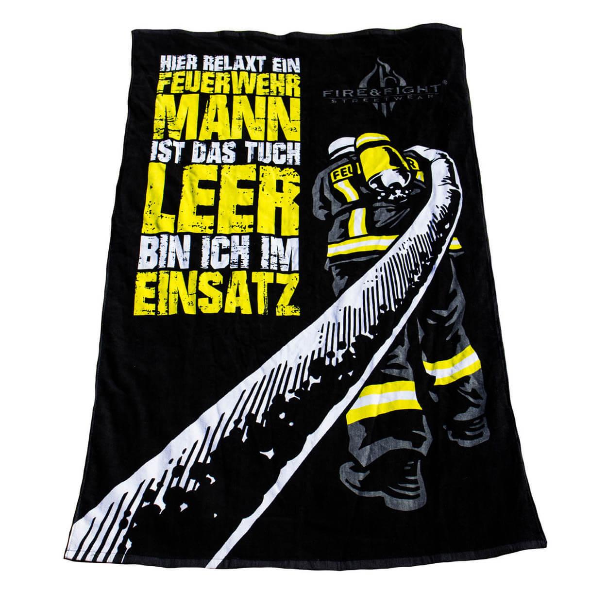 Hier relaxt ein Feuerwehrmann - Oversize Strandtuch