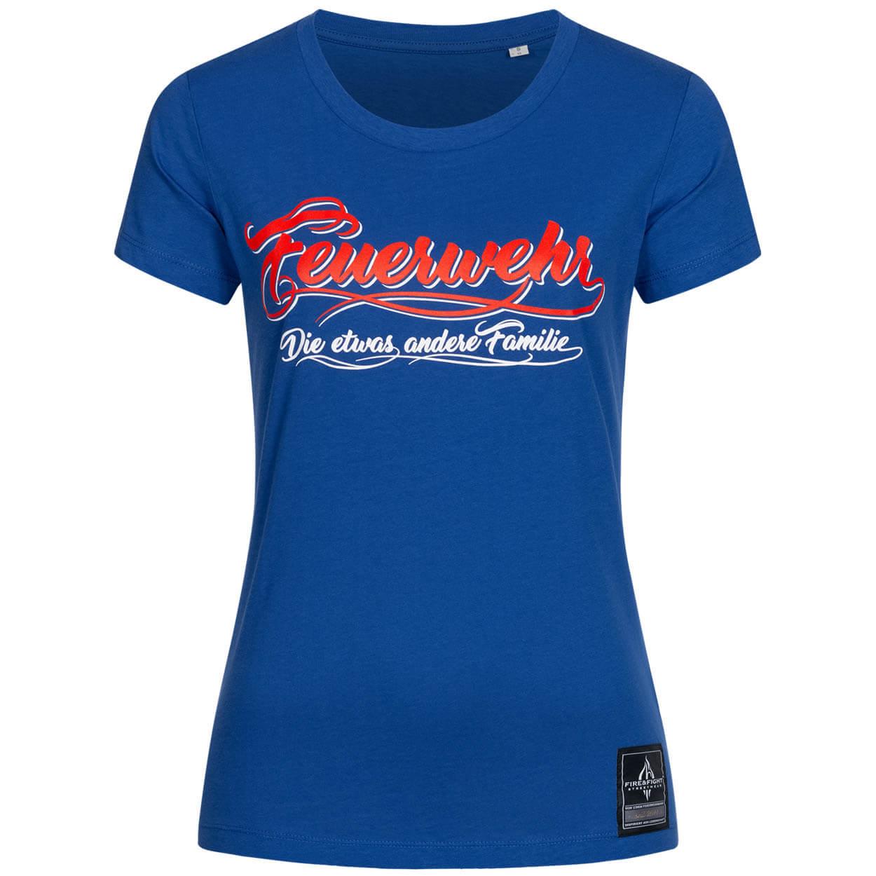 Feuerwehr, die etwas andere Familie - Frauen T-Shirt blau