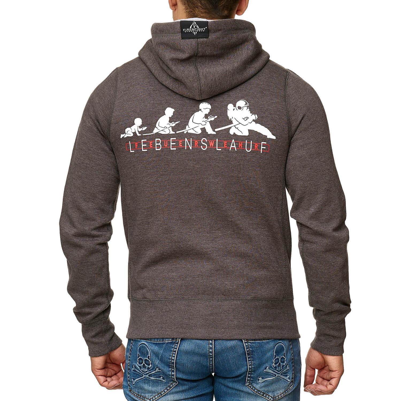 FEUERWEHR LEBENSLAUF Kapuzenjacke grey