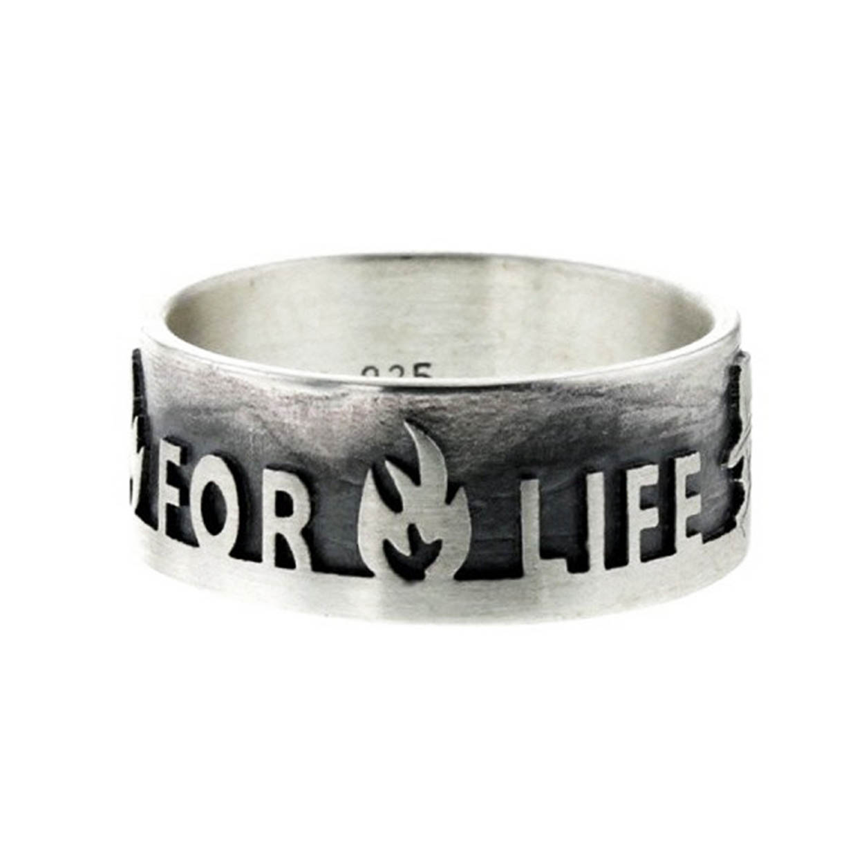 Firefighter for Life - Ring Sterlingsilber