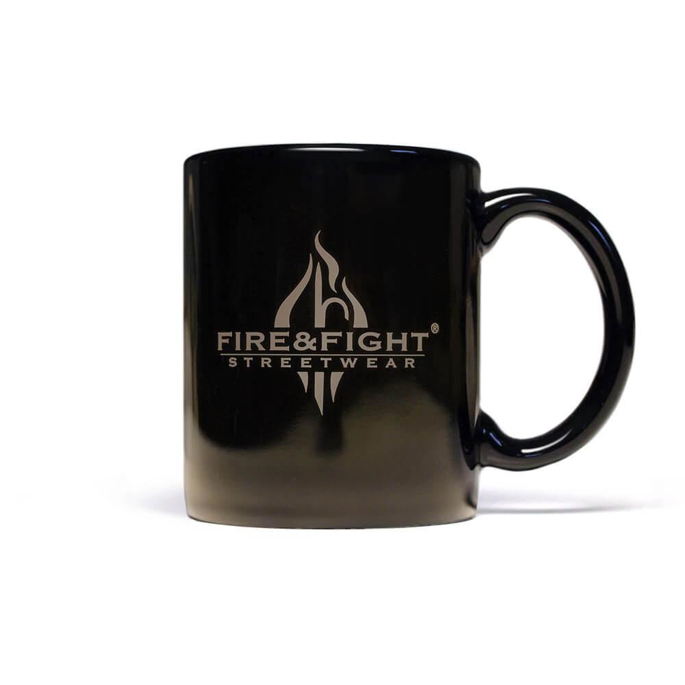 relaxt ein Feuerwehrmann - Kaffeebecher
