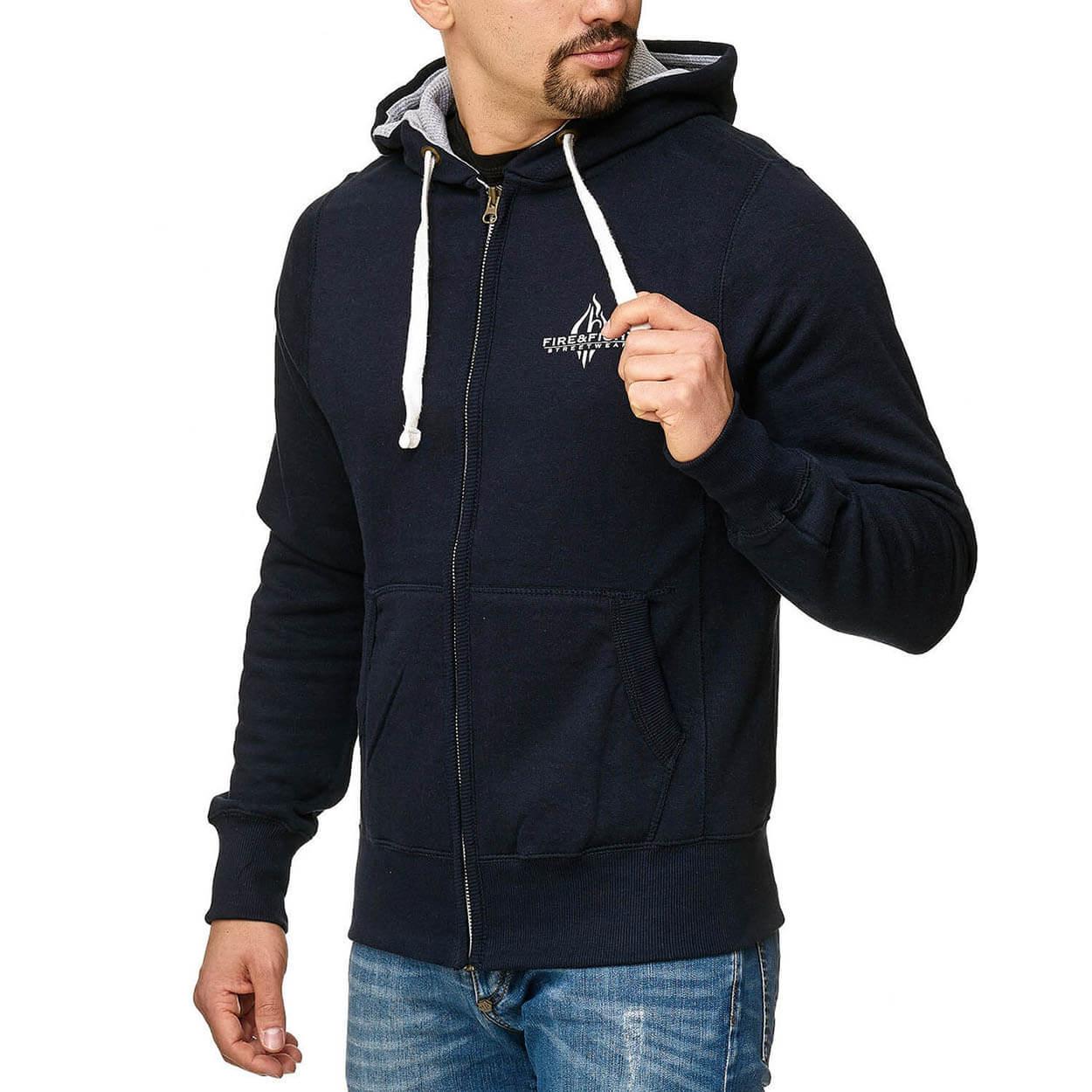 Heiliger Florian - Kapuzenjacke Männer Farbe navy