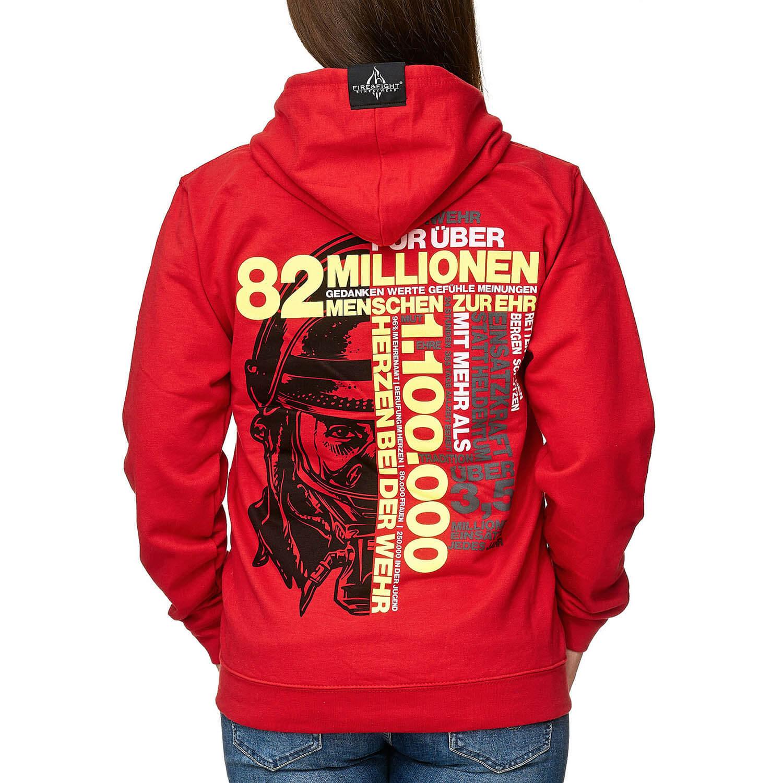82 Millionen Frauen Kapuzenjacke rot