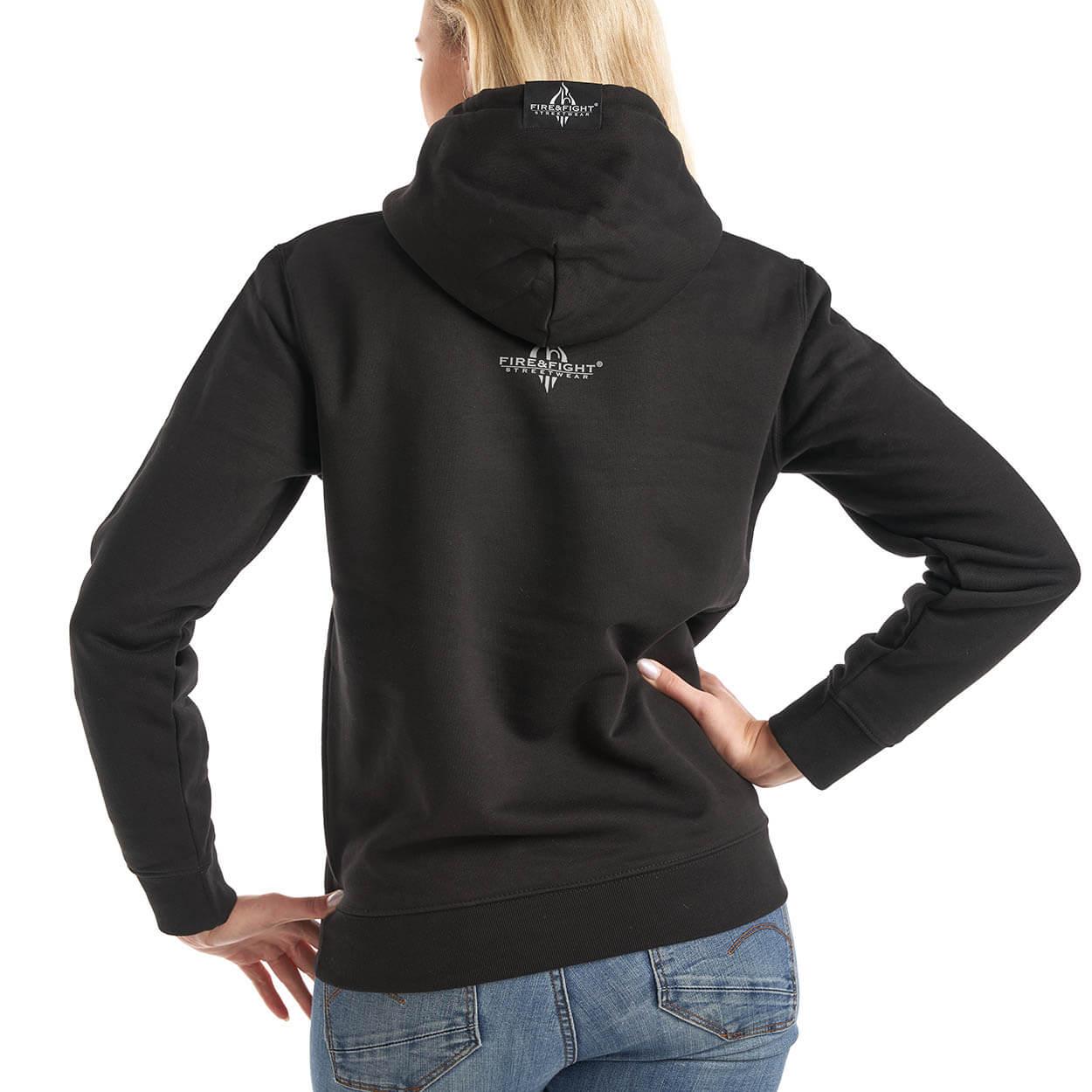 Feuerwehrfamilie Frauen-Kapuzensweater Farbe schwarz