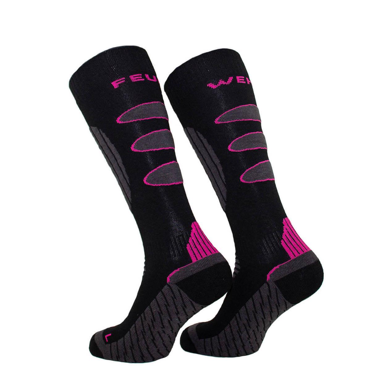 Feuerwehrfrauen Multifunktions-Stiefelsocken - Farbe schwarz/pink