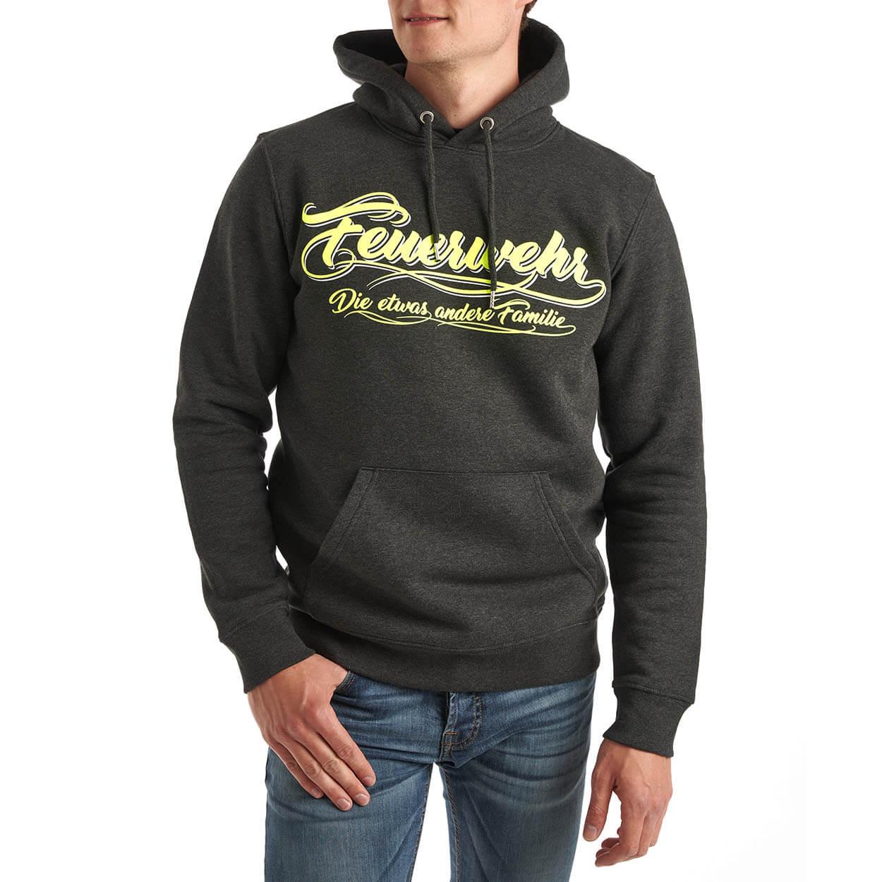 Feuerwehr , die etwas andere Familie - Kapuzensweater Männer grau
