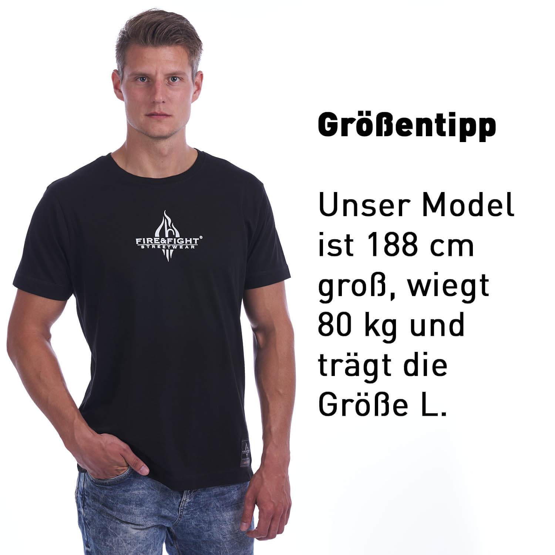 Helfen statt gaffen - Männer T-Shirt schwarz