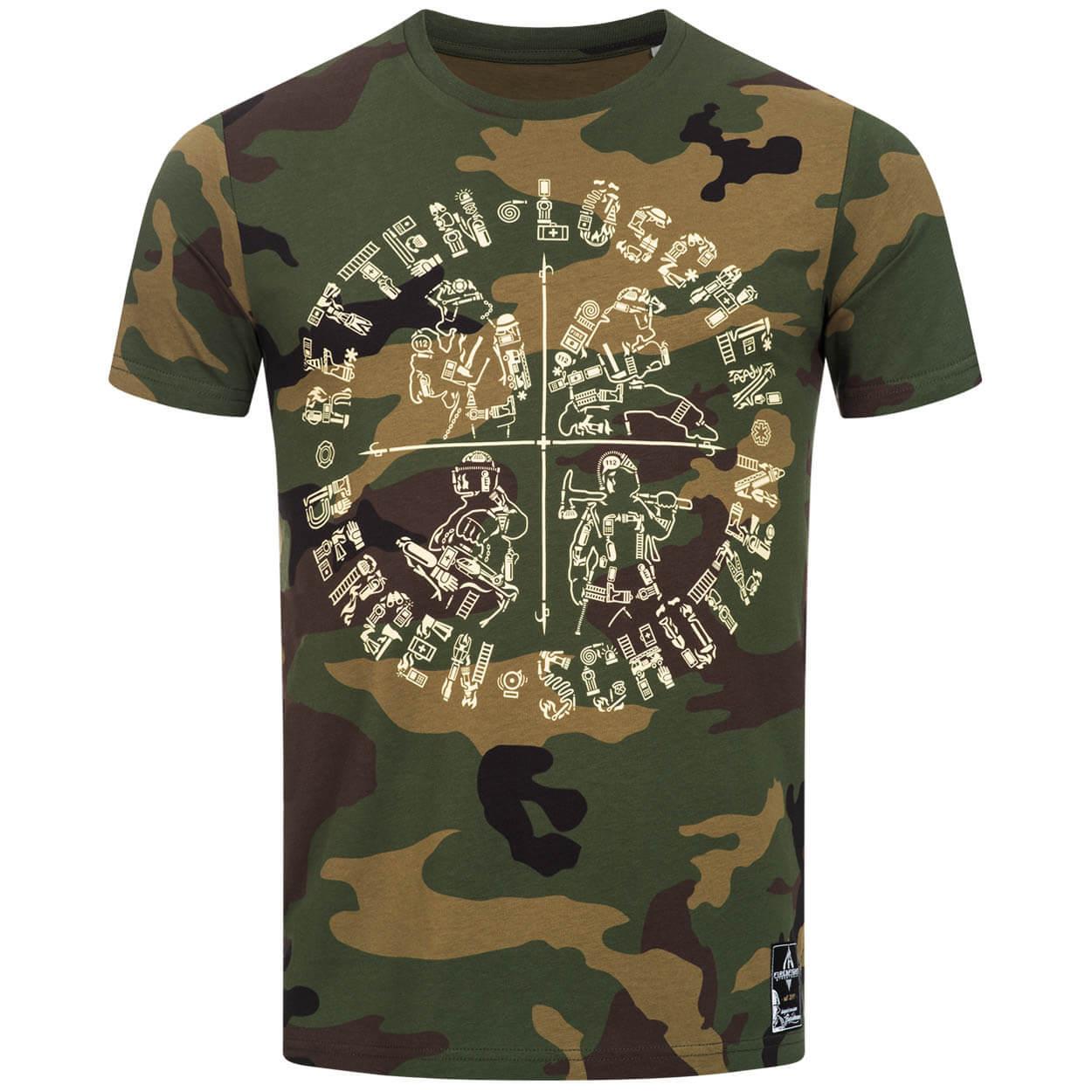 Retten Löschen Bergen Schützen - Männer T-Shirt Camouflage