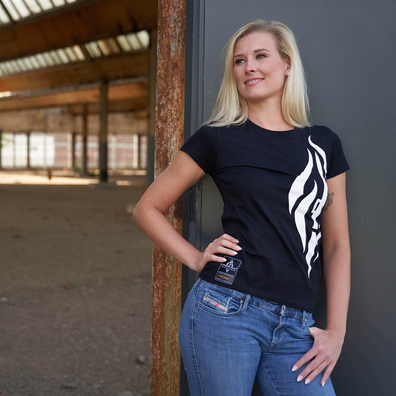 FIRE & HOOK Feuerwehrfrauen - T-Shirt schwarz