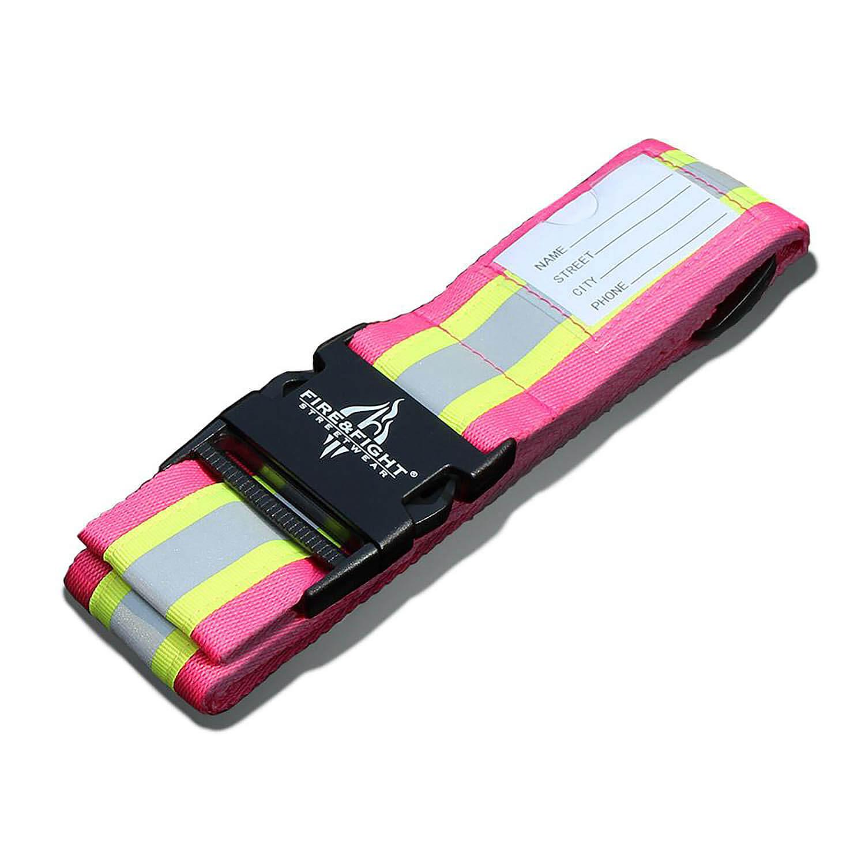 Kofferband Reflexstreifen pink