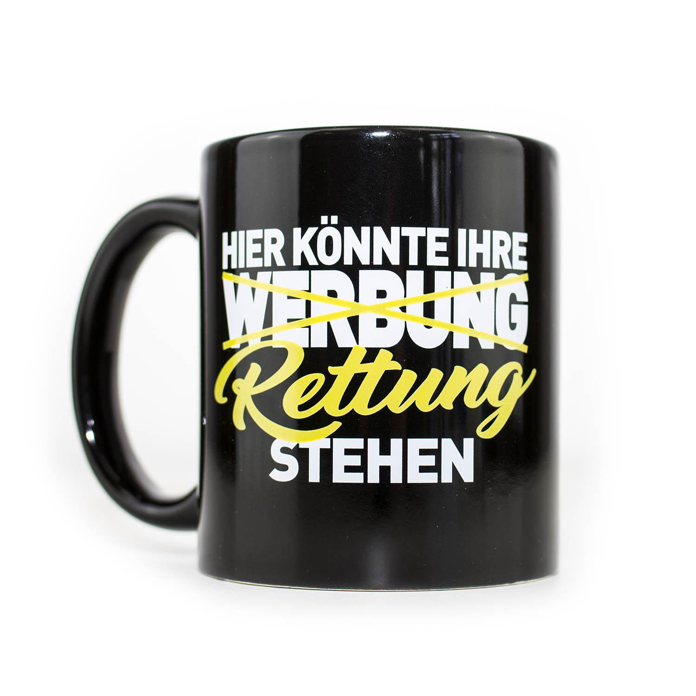 IHRE RETTUNG Kaffeebecher gelb