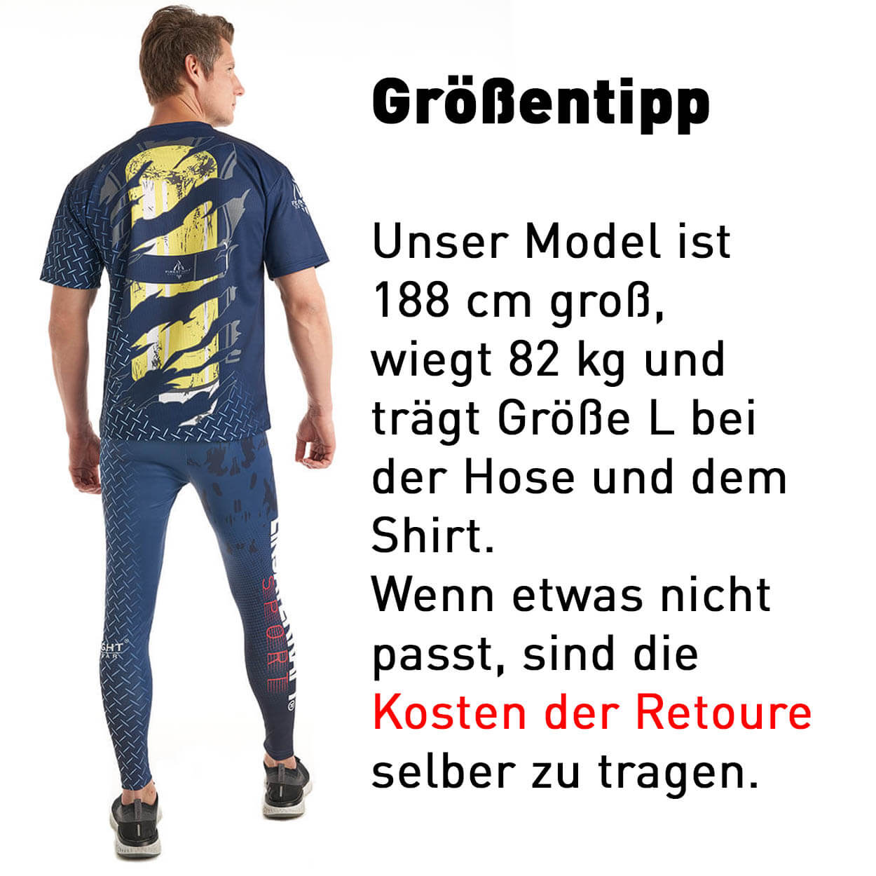 EINSATZKRAFT® Running Herren Leggings