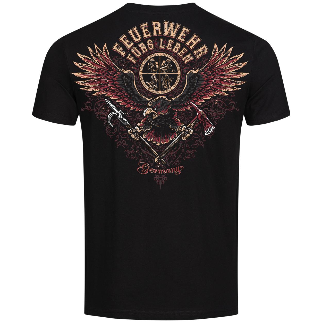 Feuerwehr fürs Leben - Männer T-Shirt schwarz