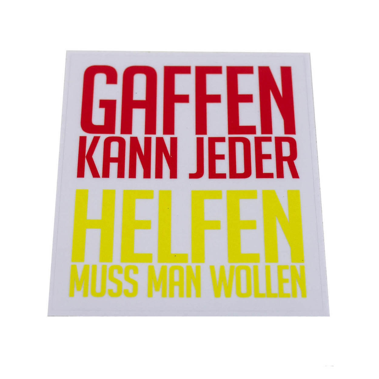 GAFFEN Aufkleber rot/gelb