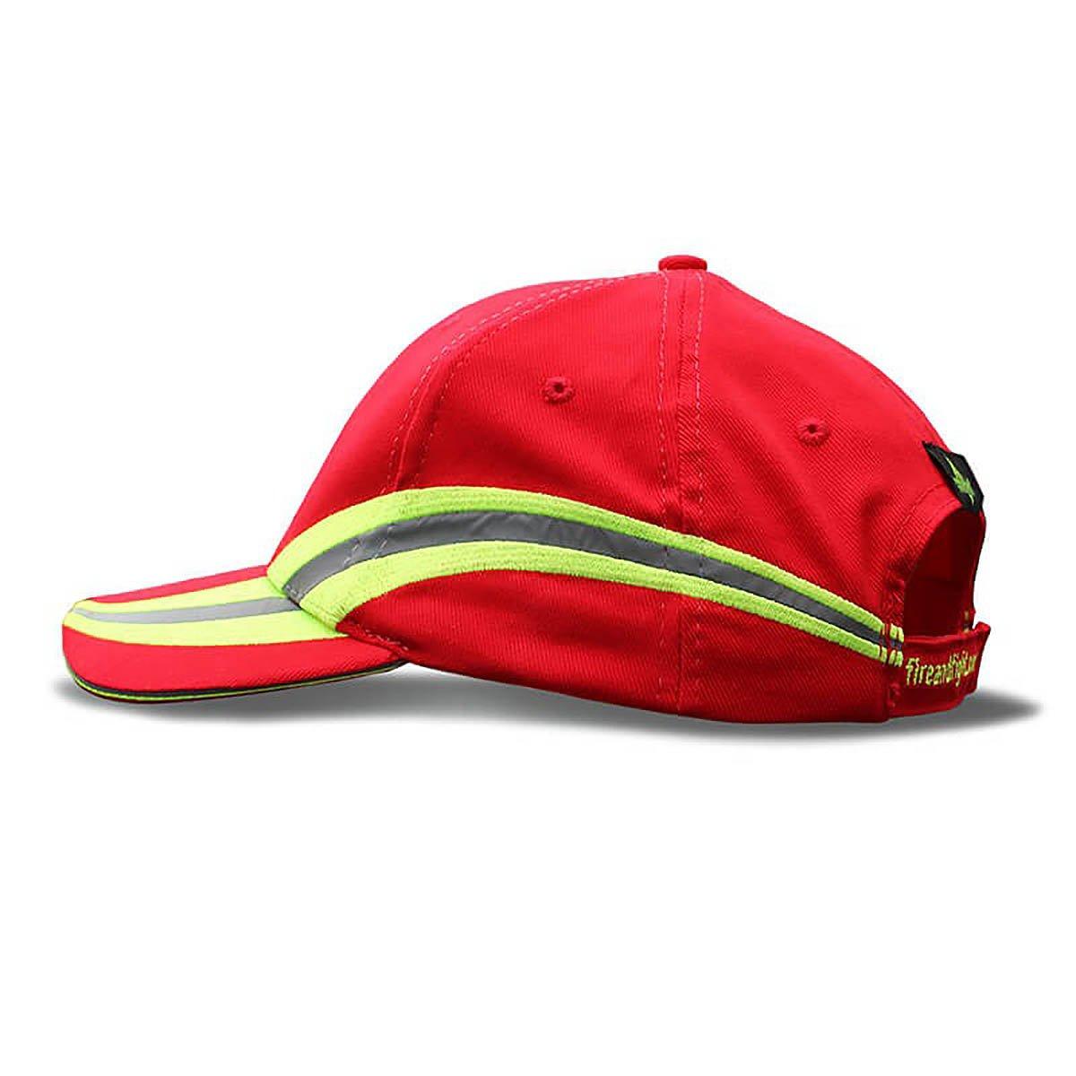 Feuerwehr Basecap Reflexstreifen Design - Farbe rot