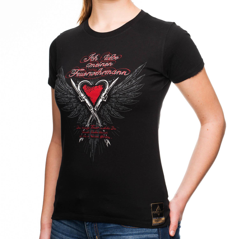 Ich liebe meinen Feuerwehrmann - Frauen T-Shirt