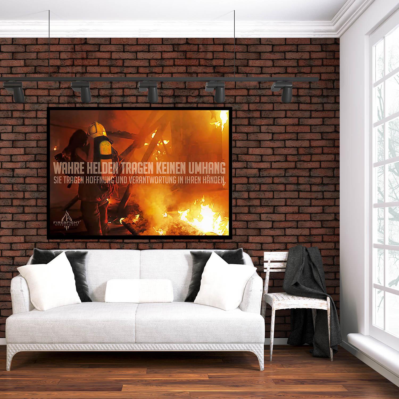 HOFFNUNG Feuerwehrposter Wandbild 100 x 70 cm