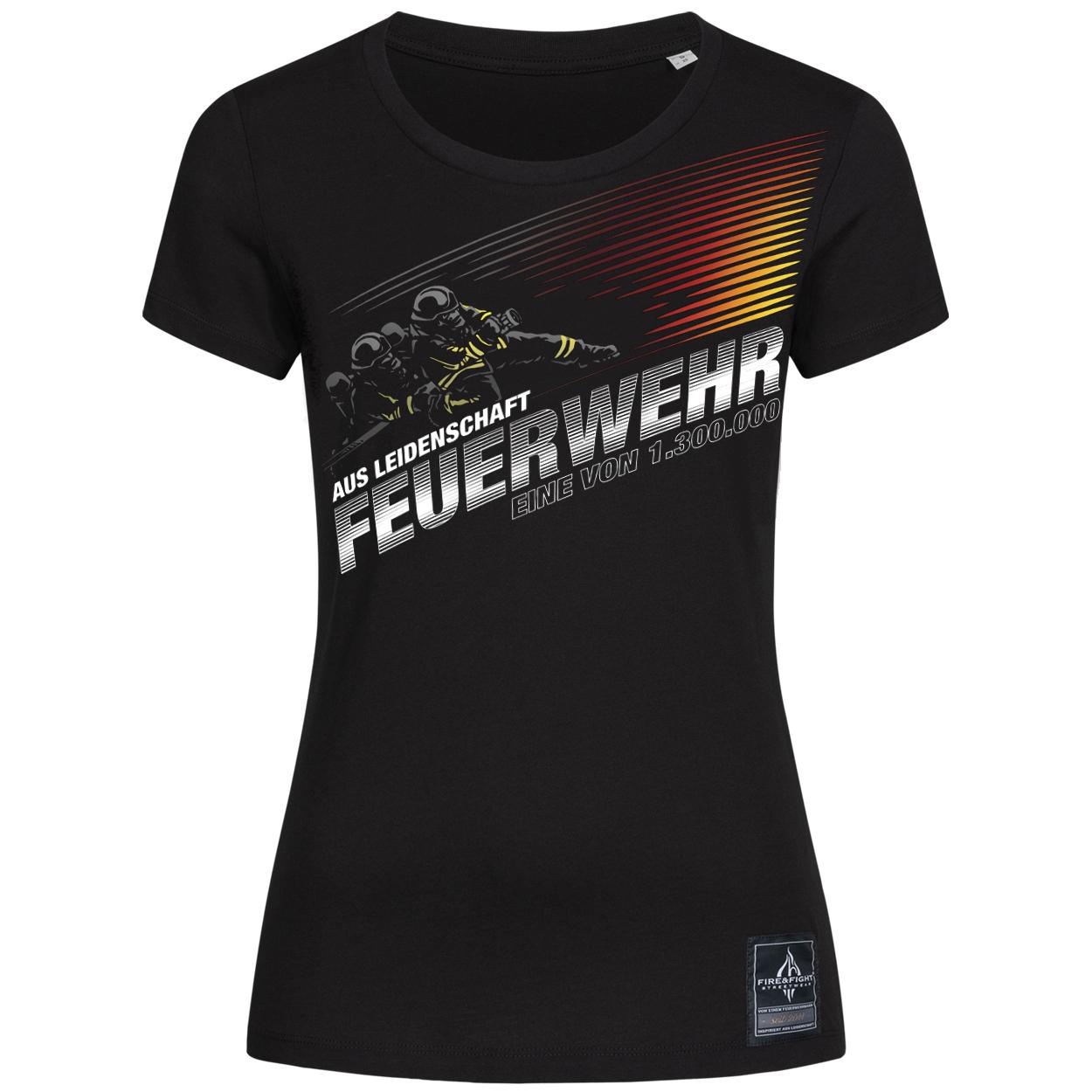 Aus Leidenschaft Feuerwehr Frauen T-Shirt
