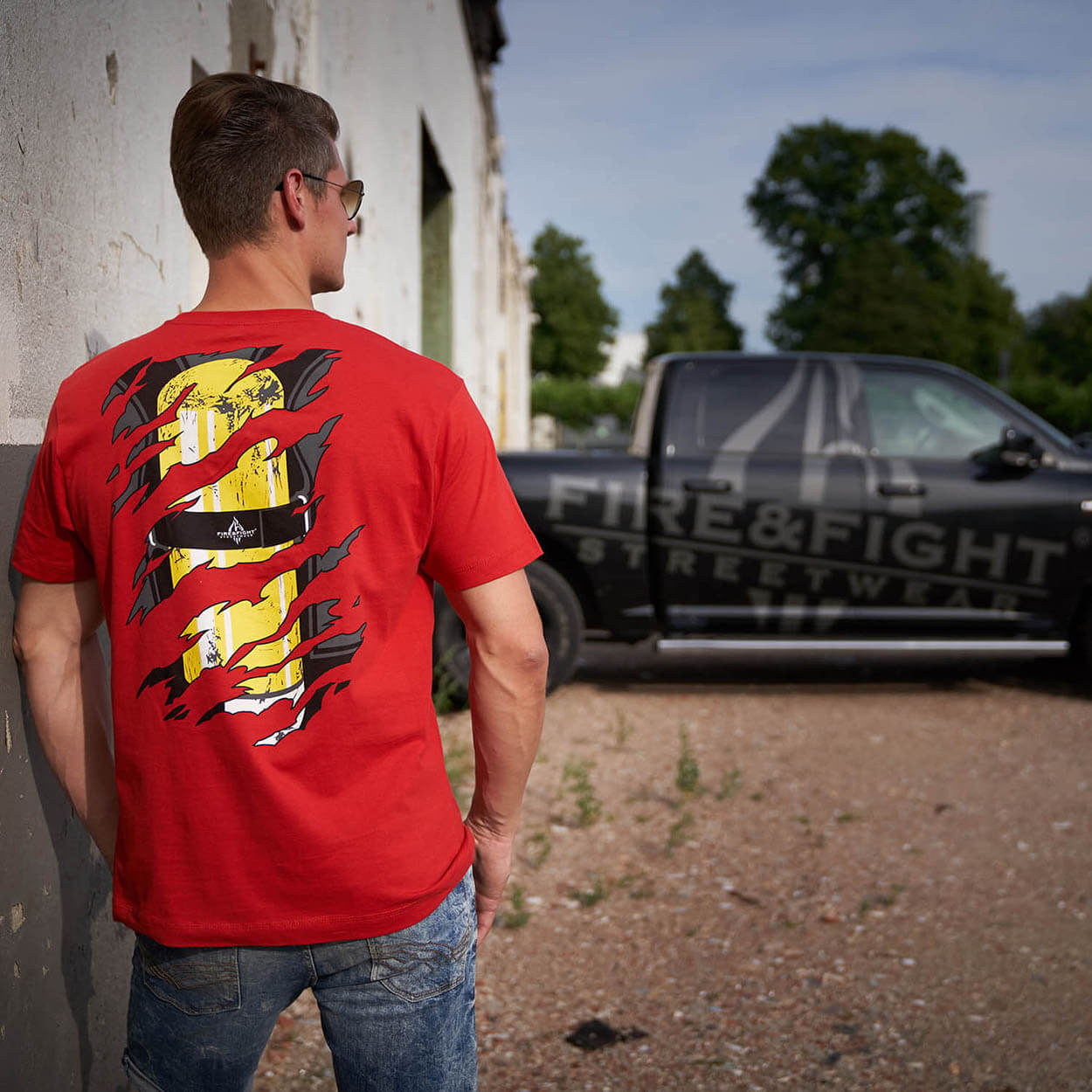 Einsatzkraft® INSIDE - Feuerwehr Männer T-Shirt rot