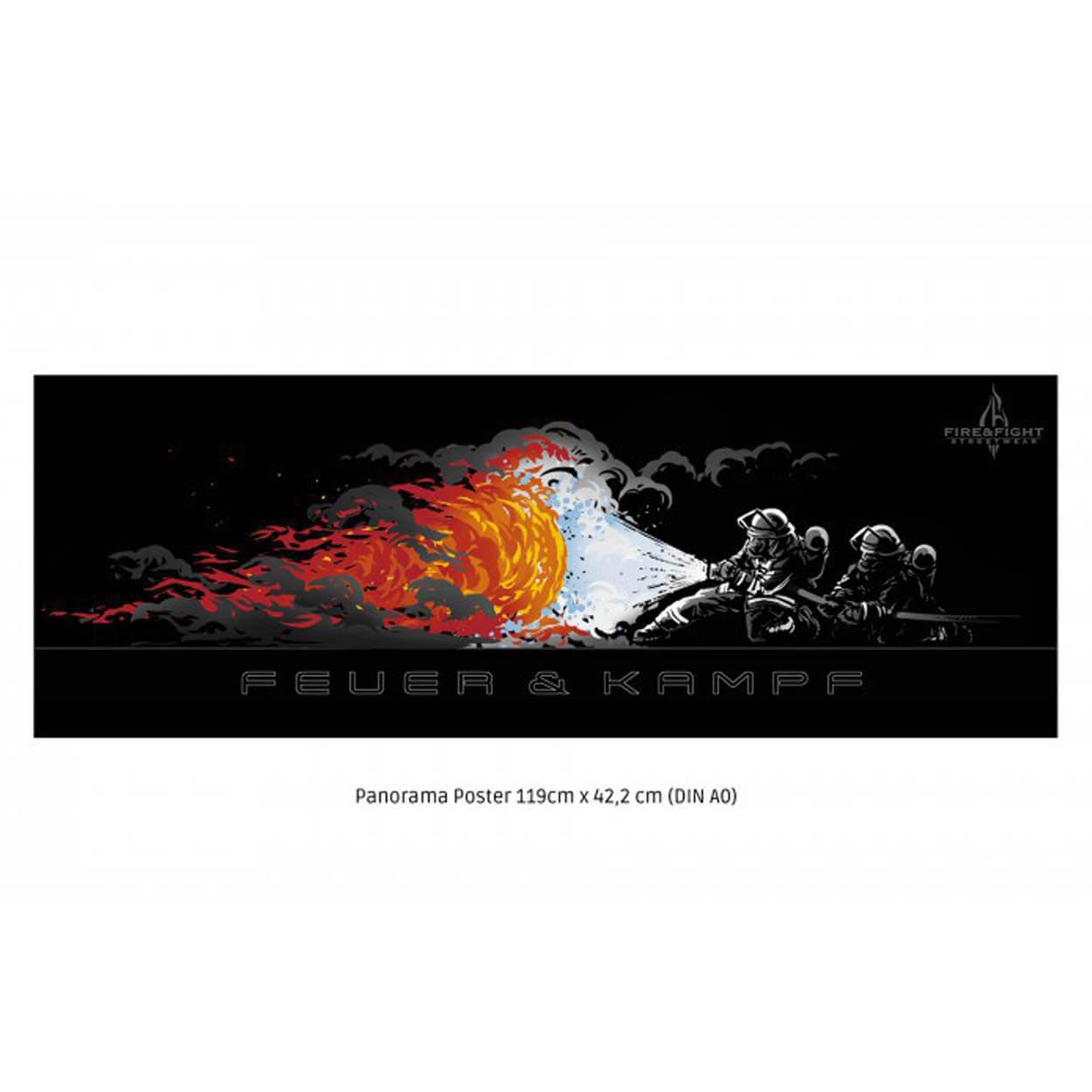 FEUER & KAMPF Panorama Poster