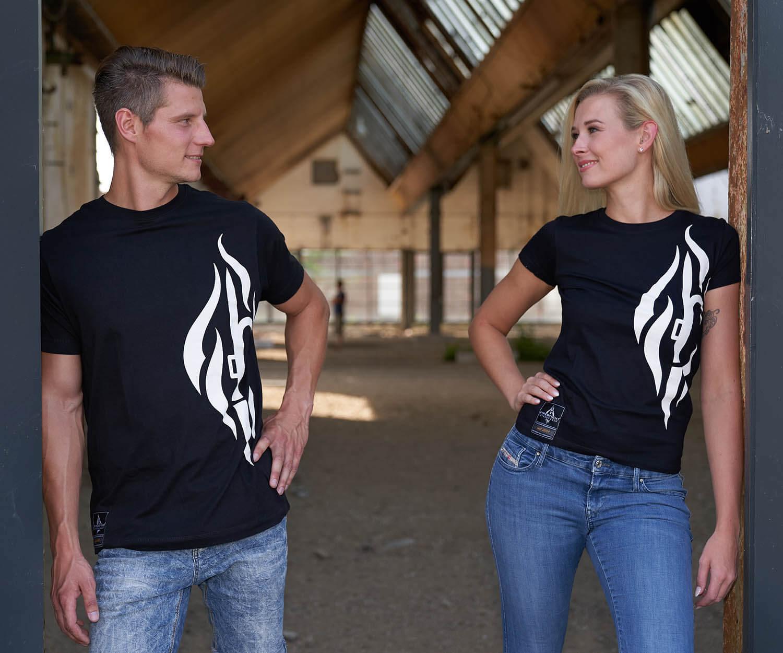 FIRE & HOOK Design - Männer T-Shirt schwarz