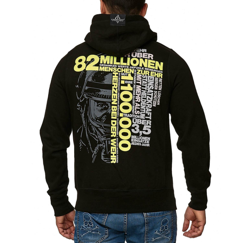 82 Millionen Design - Kapuzenjacke Männer schwarz