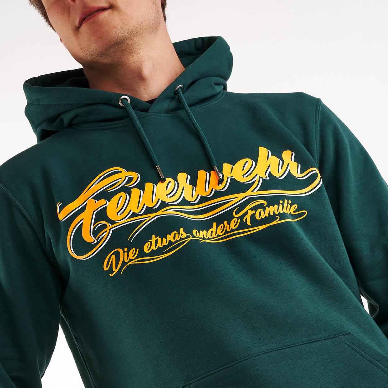 Feuerwehr, die etwas andere Familie - Kapuzensweater Männer grün