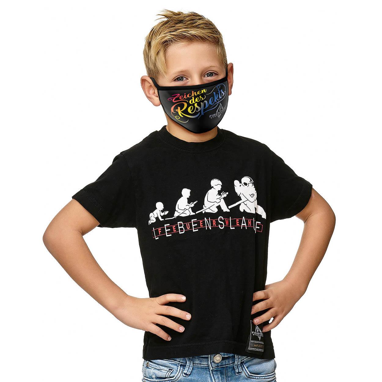Kinder Alltagsmaske Zeichen des Respekts