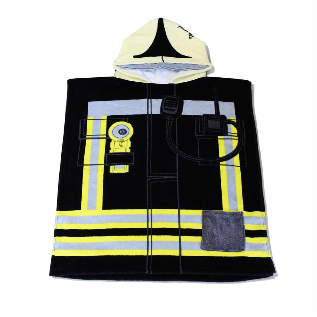 Feuerwehr Design Einsatzanzug - Kinder Badeponcho