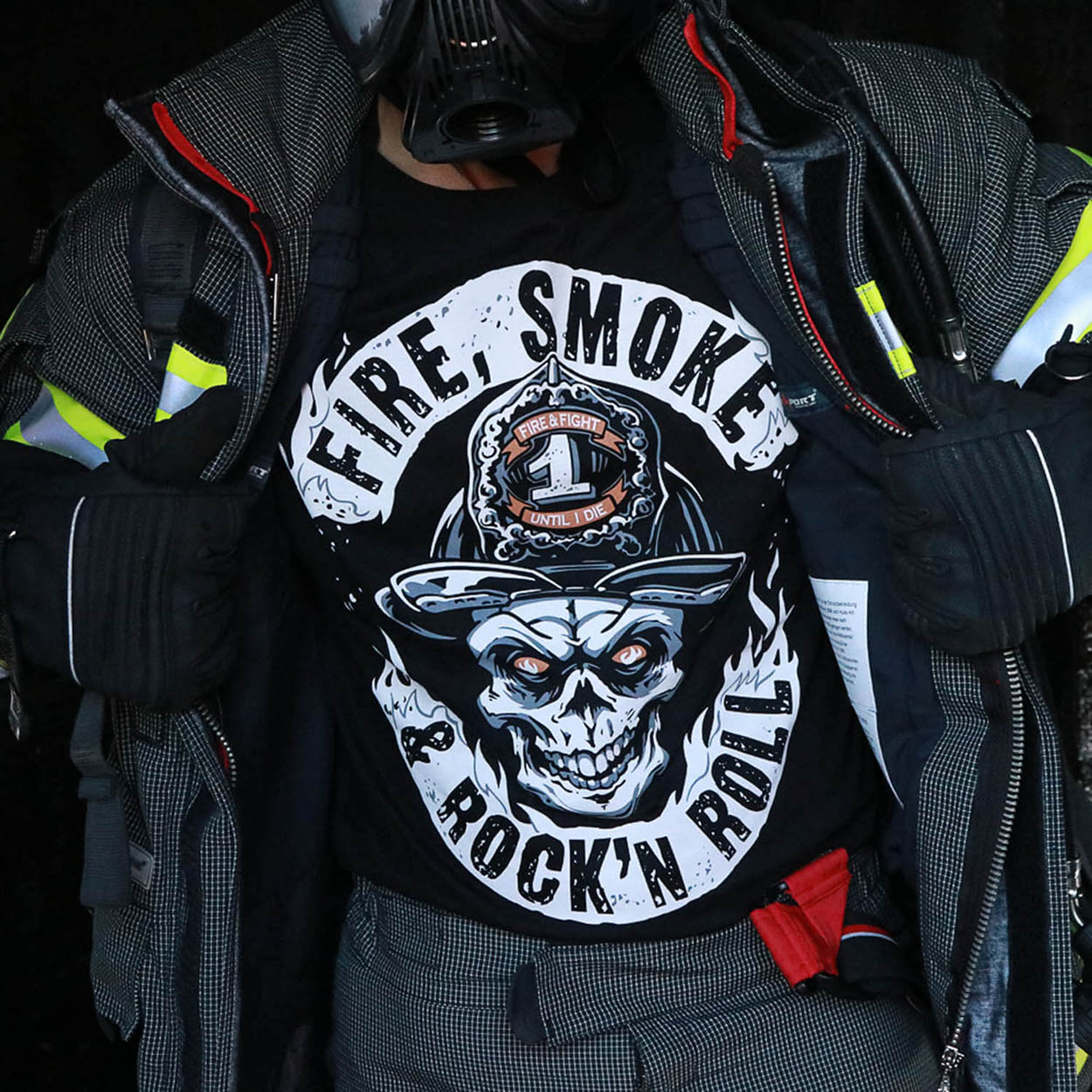 Fire Smoke & Rock´n Roll Original - Männer T-Shirt schwarz
