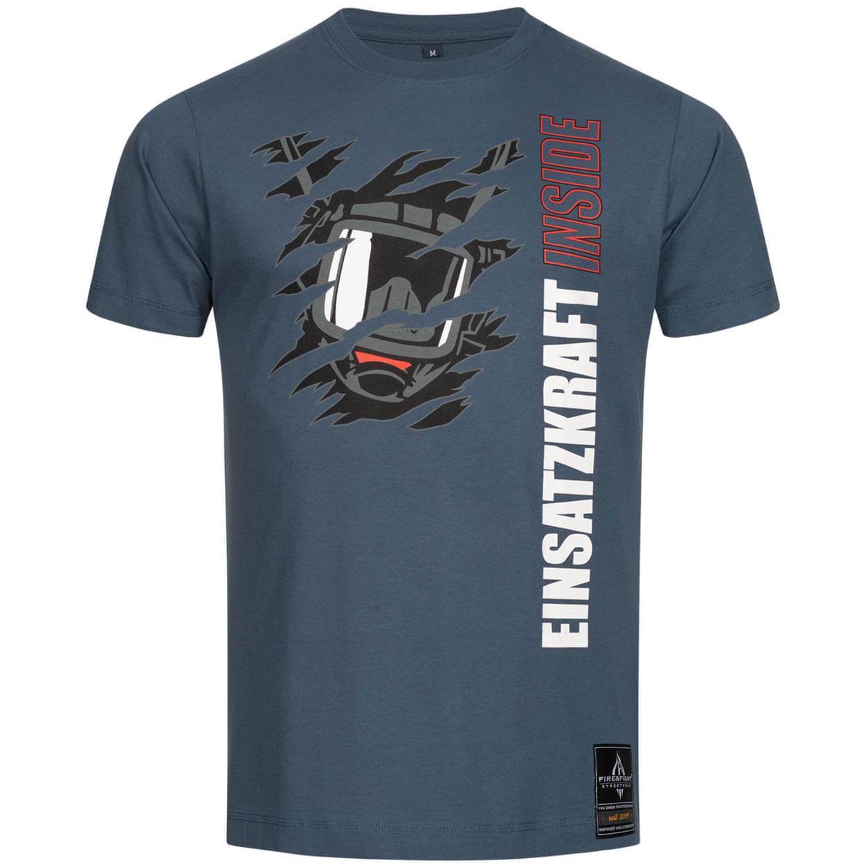 Einsatzkraft® INSIDE Feuerwehr Männer T-Shirt light navy