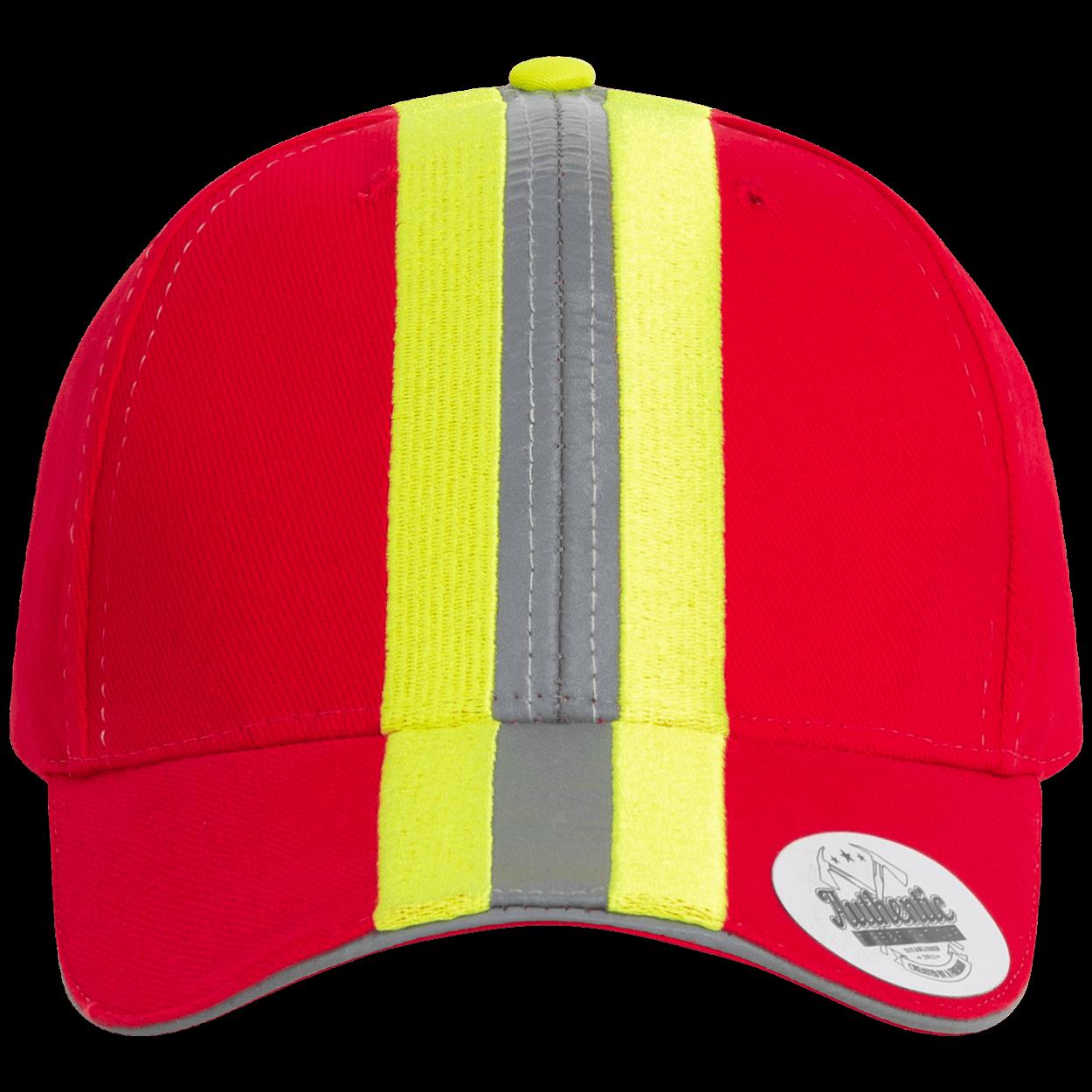 Feuerwehr & Rettungsdienst Reflexstreifen - Design Cap rot