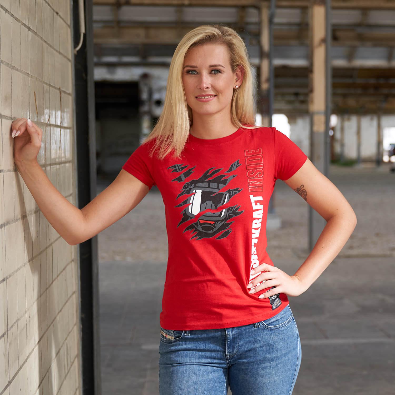 Einsatzkraft® INSIDE - Feuerwehrfrauen T-Shirt rot