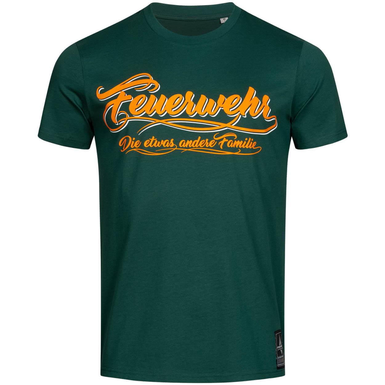 Feuerwehr, die etwas andere Familie - Männer T-Shirt grün